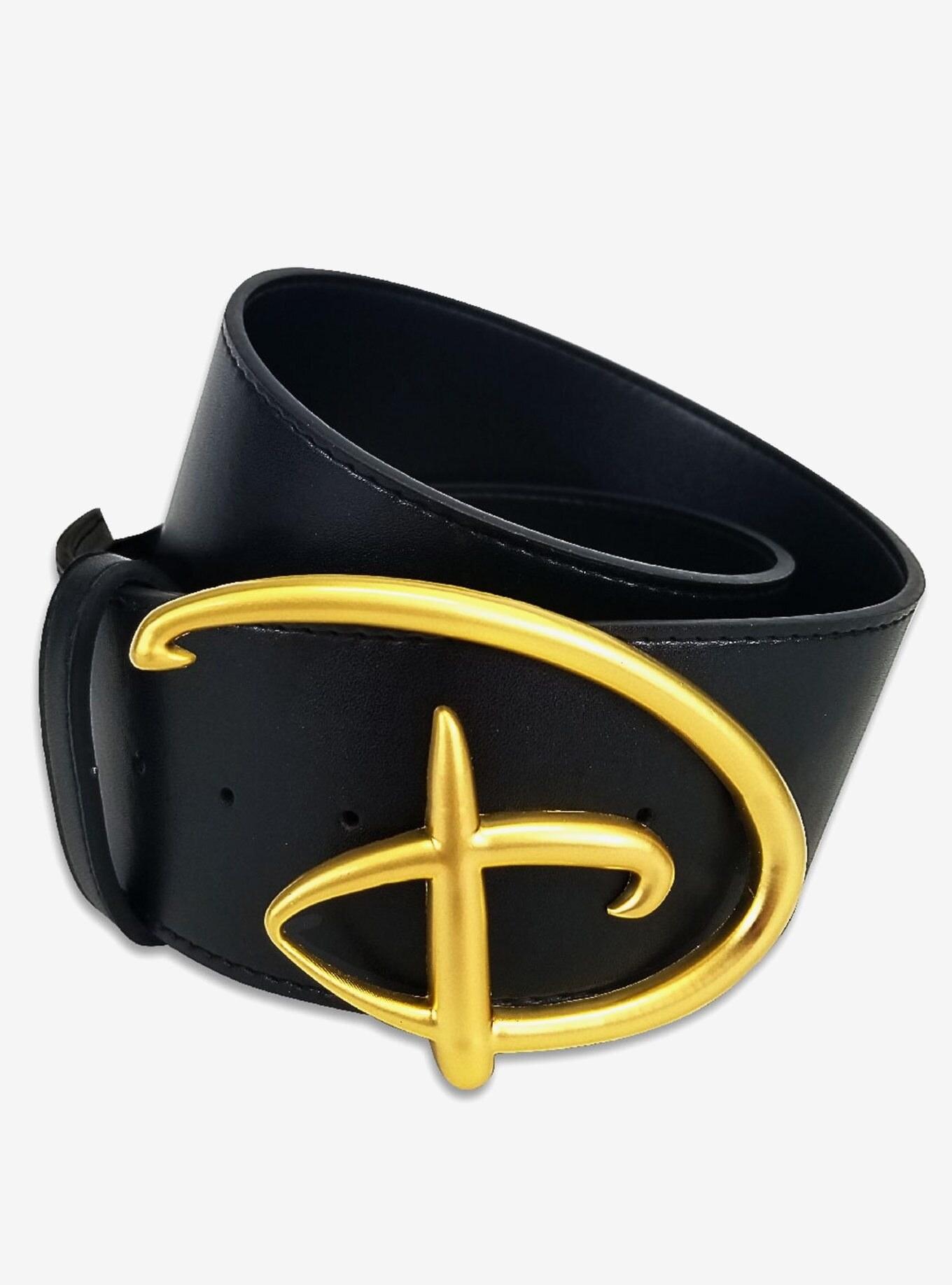 belt with disney style D belt buckle