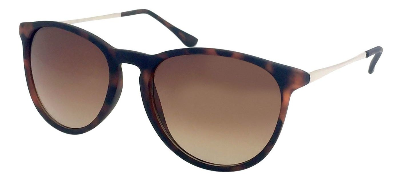 The round sunglasses in brown with wire arm