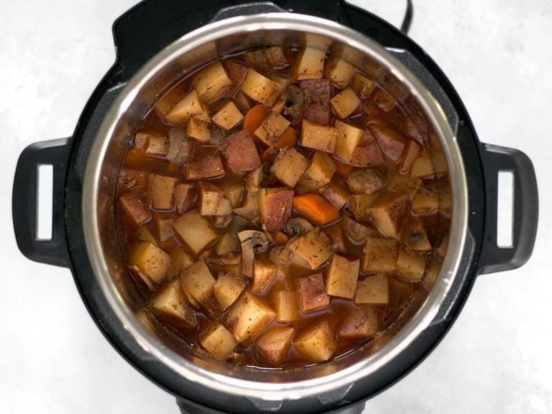 Beef and potato stew in the Instant Pot