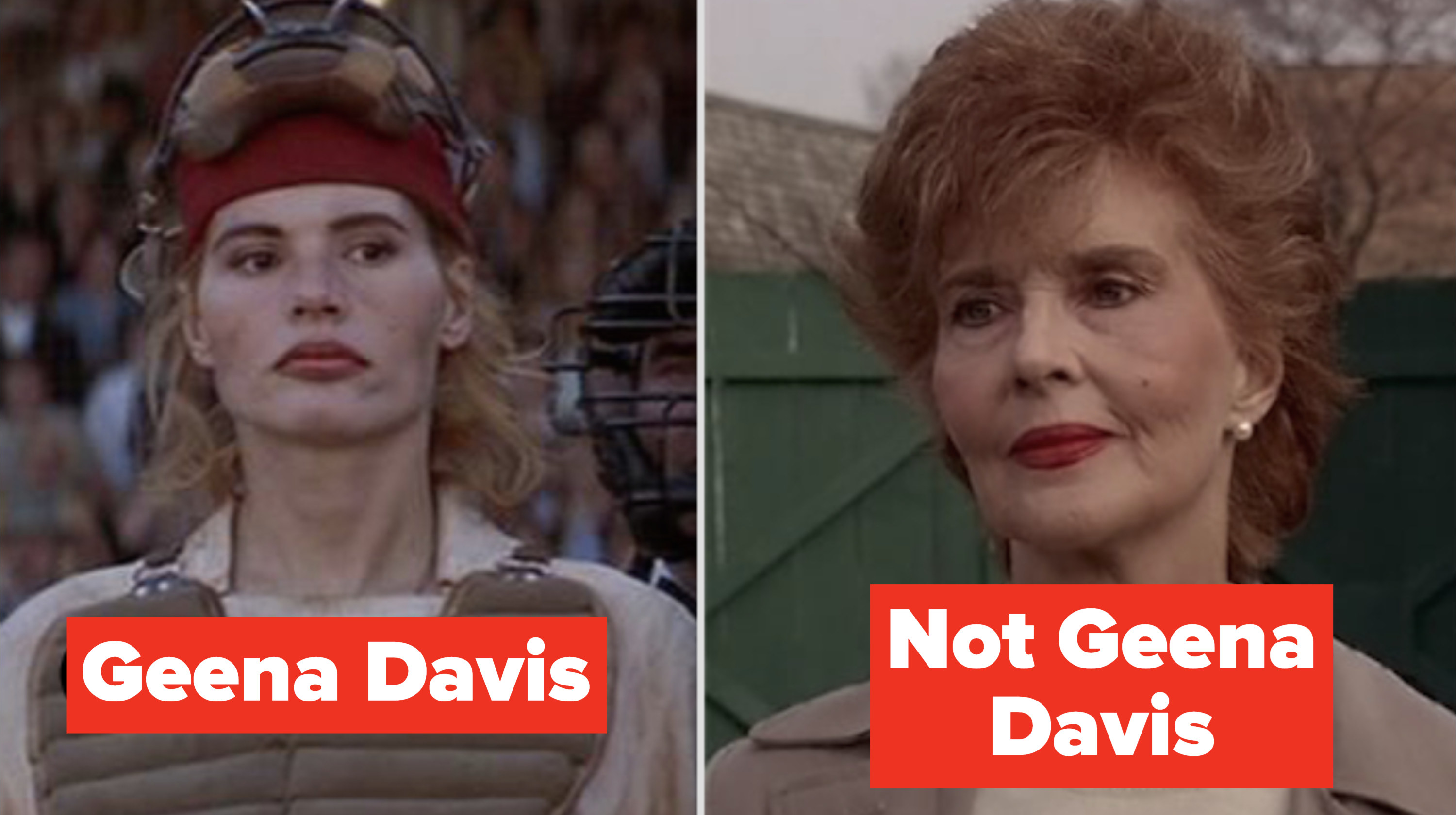 "Young and Old Dottie in ""A League of Their Own"""