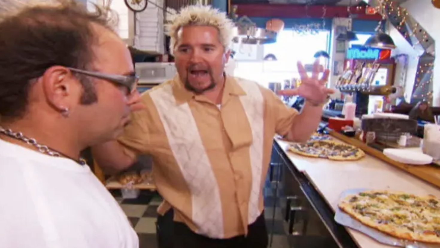 "Guy in an episode of ""Diners, Drive-ins, and Dives"""
