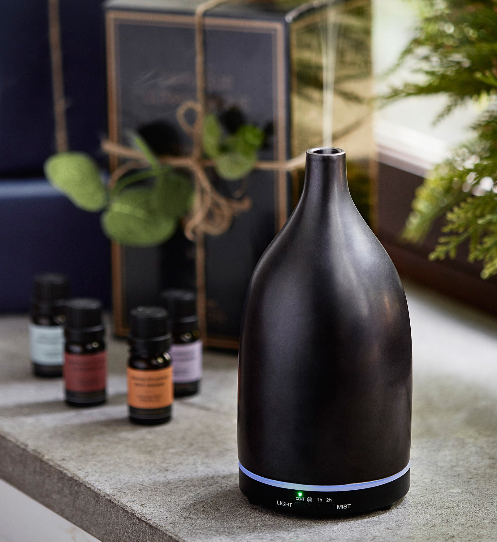 A ceramic diffuser that looks like a vase