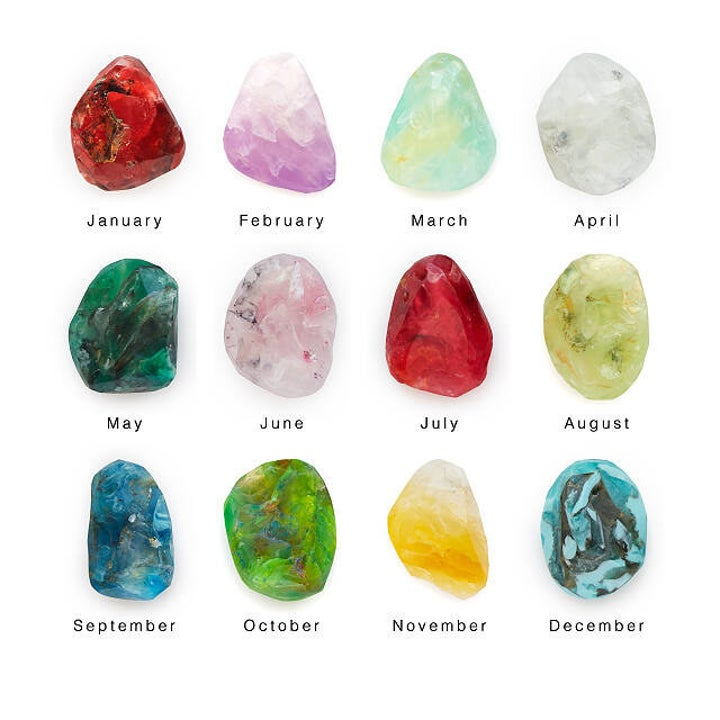 the stone-shaped soaps for each birth month