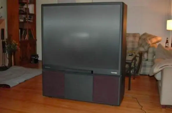 A giant '90s TV
