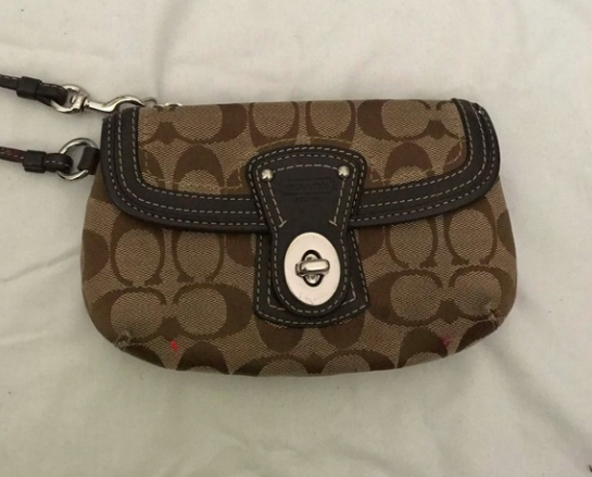 A monogrammed Coach bag from the 2000s
