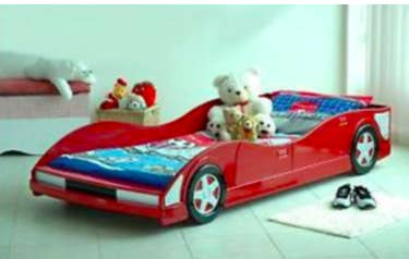 A red car bed frame