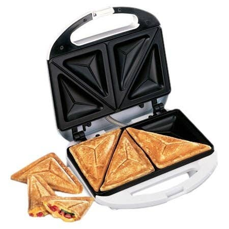 The device with three diagonally-cut sandwiches inside