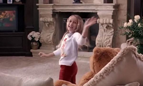 Mean Girls screenshot of her dancing to milkshake