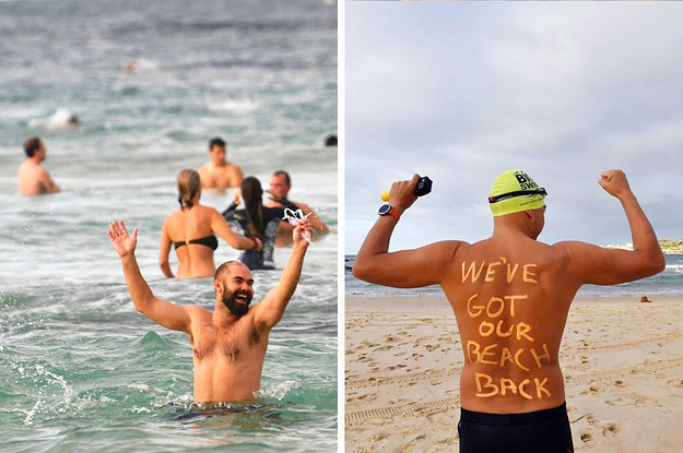 Sydney's Iconic Bondi Beach Reopened And Here Are The Best Photos Of Locals Celebrating
