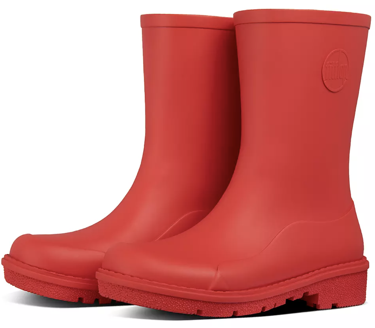 The rain boots in red