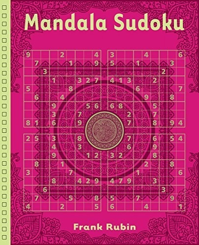 The cover of a sudoku book with mandalas in the puzzla