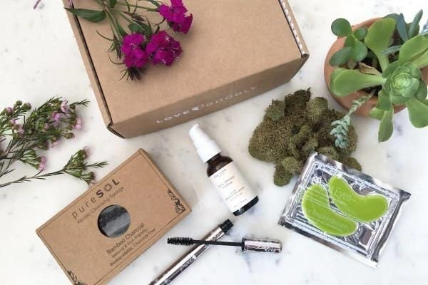 various natural beauty products