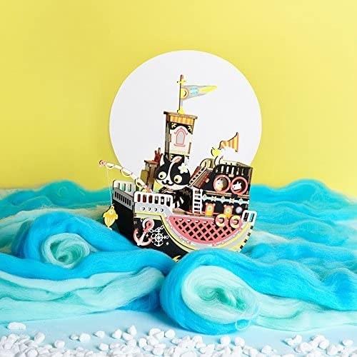 Cardboard pirate ship cut out