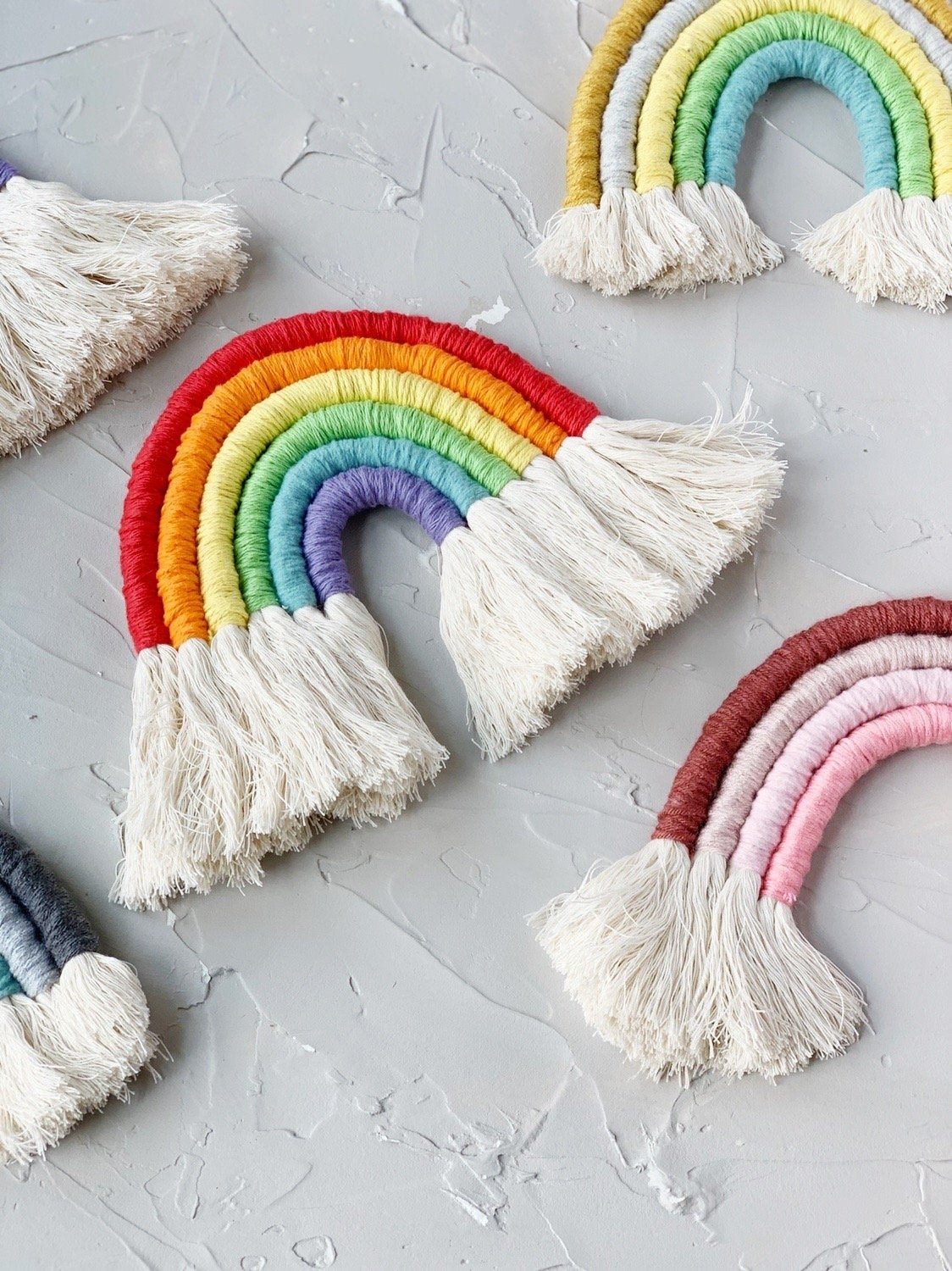 Rope rainbow with natural tassels