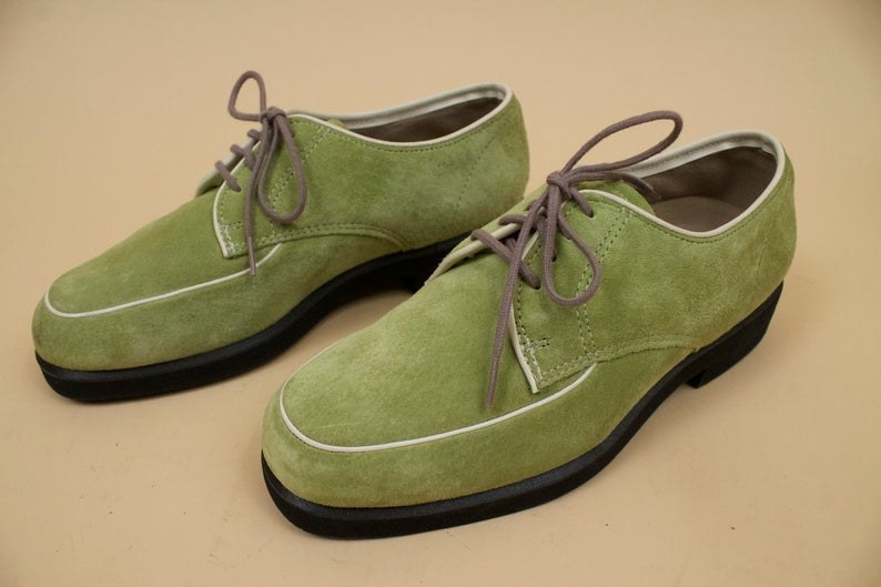 Lime green Hush Puppies shoes