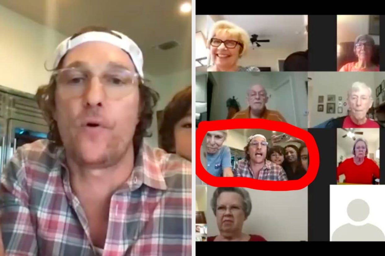 Matthew McConaughey Hosted A Virtual Bingo Night For The Elderly And It Was So Damn Wholesome
