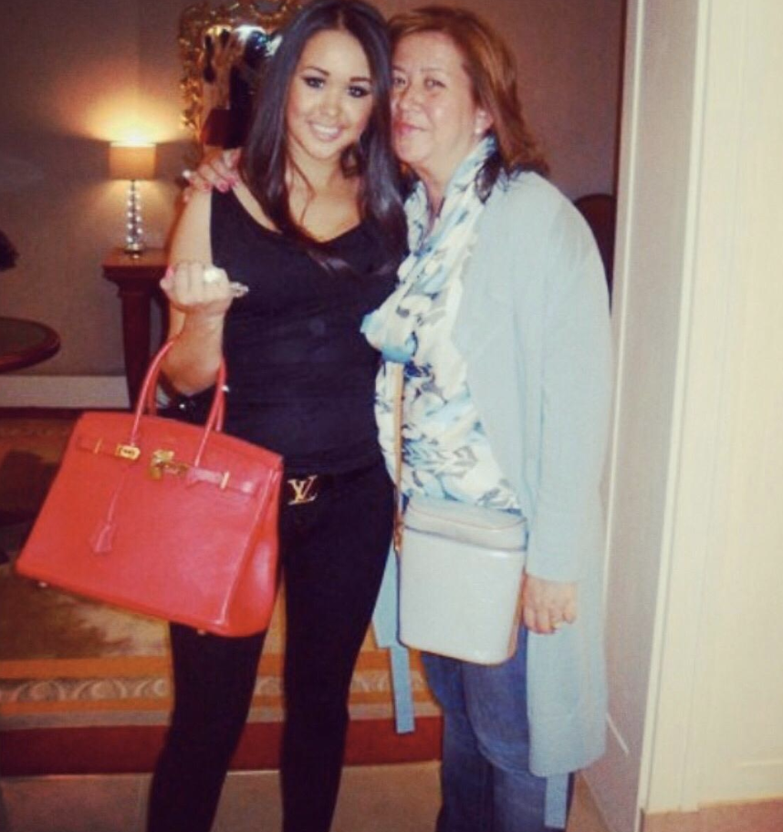 Kimberley pictured with her daughter.