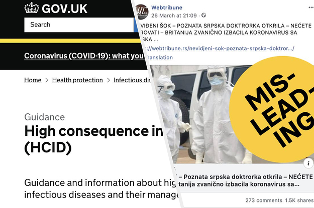 "A UK Government Web Page Is Going Viral As ""Evidence"" For Conspiracy Theories About The Coronavirus"