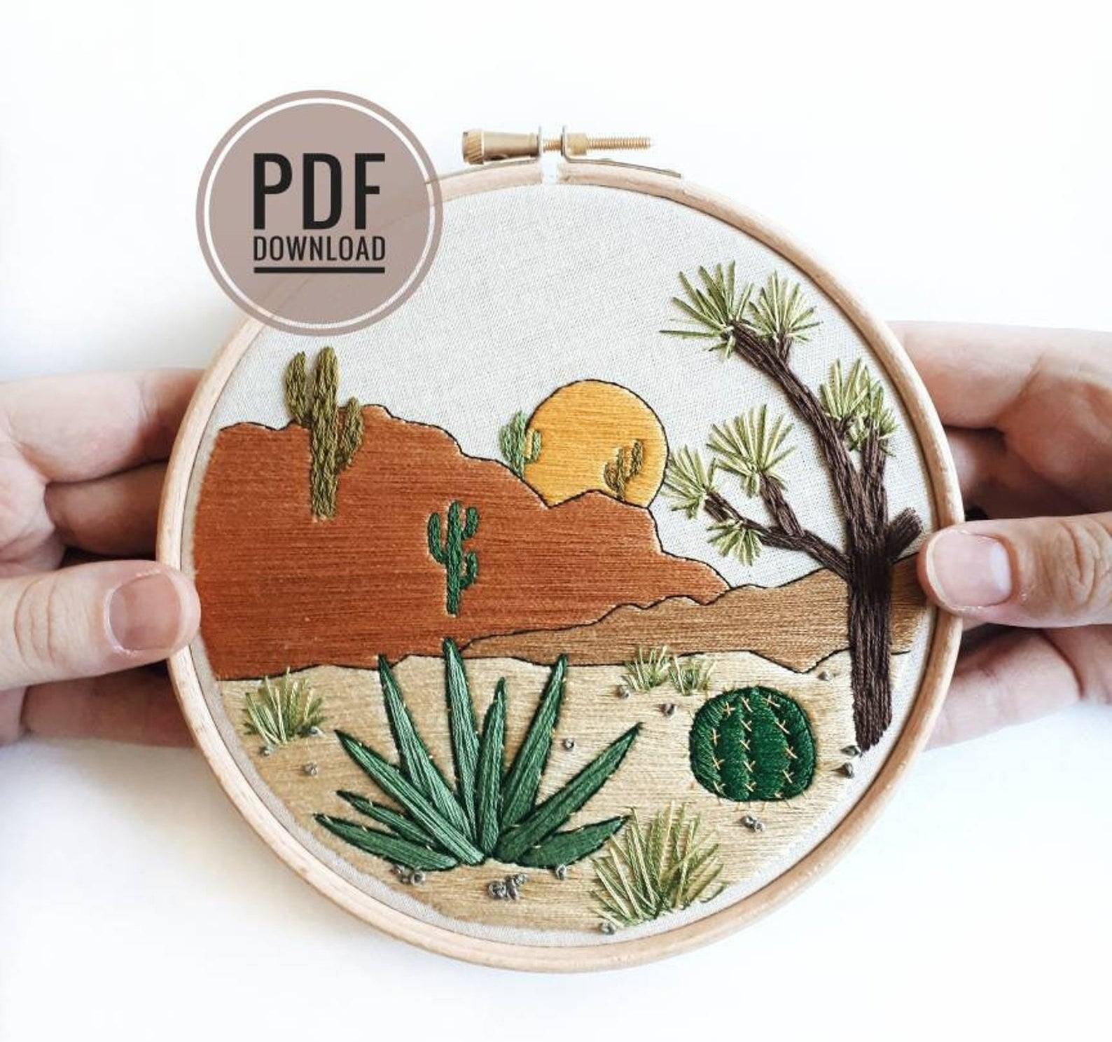 embroidered pattern of southwest desert