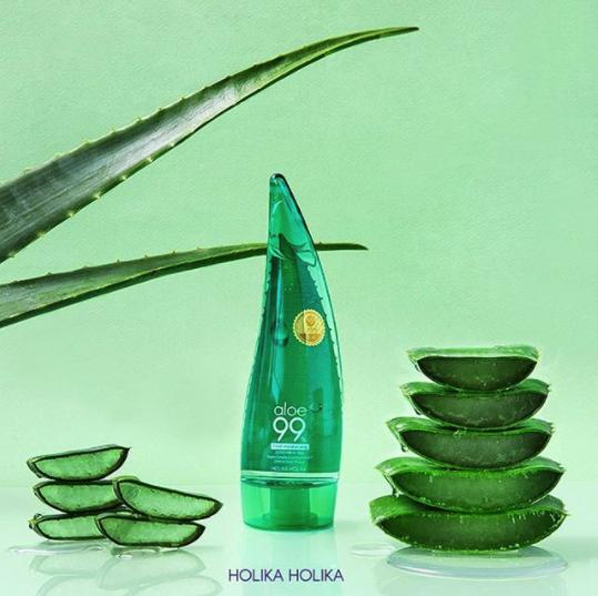 A plastic tube of aloe vera gel. It's shaped like an aloe vera leaf