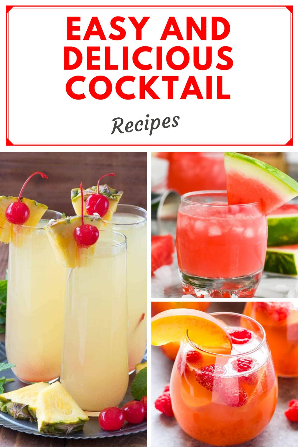 24 Easy Cocktail Recipes To Make When You Re Sick Of Wine And Beer