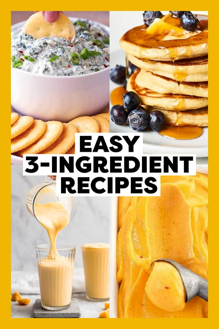 Easy 3 Ingredient Recipes Breakfast Lunch Dinner Dessert