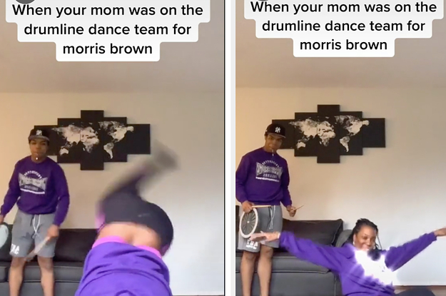 Mom Goes Viral For Performing A Drum Line Dance For Her Son S Tiktok