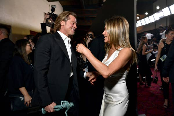 Brad Pitt and Jennifer Aniston meeting