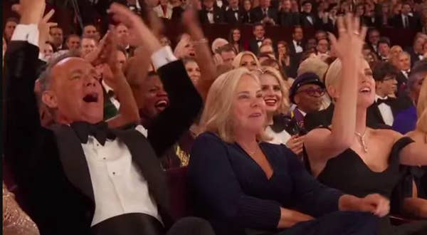 Tom Hanks freaking out