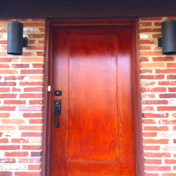 same reviewer's front door looks brand new after using the wood polish