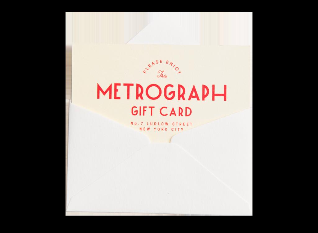 Envelope containing Metrograph gift card
