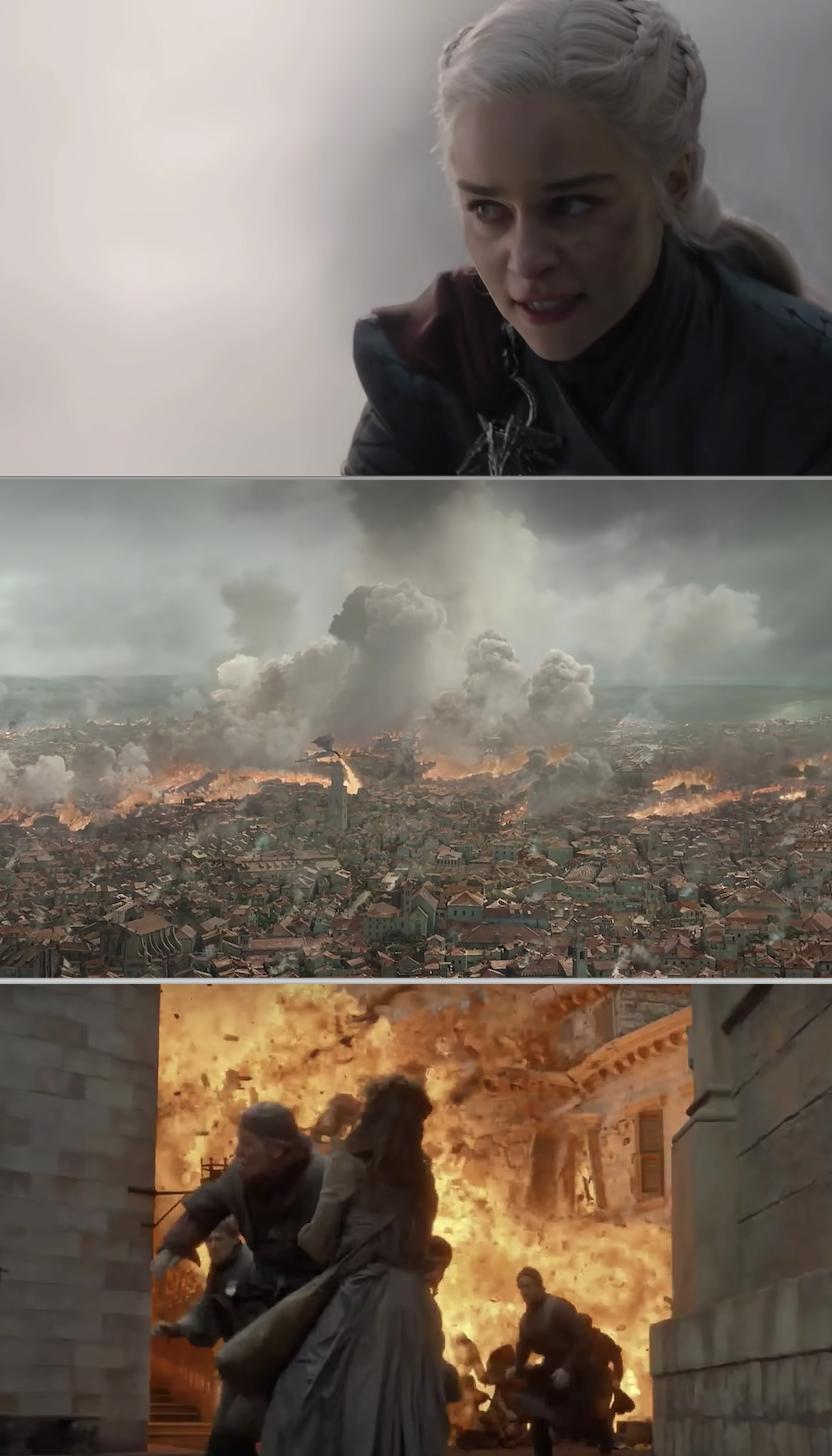 Daenerys burning everything down