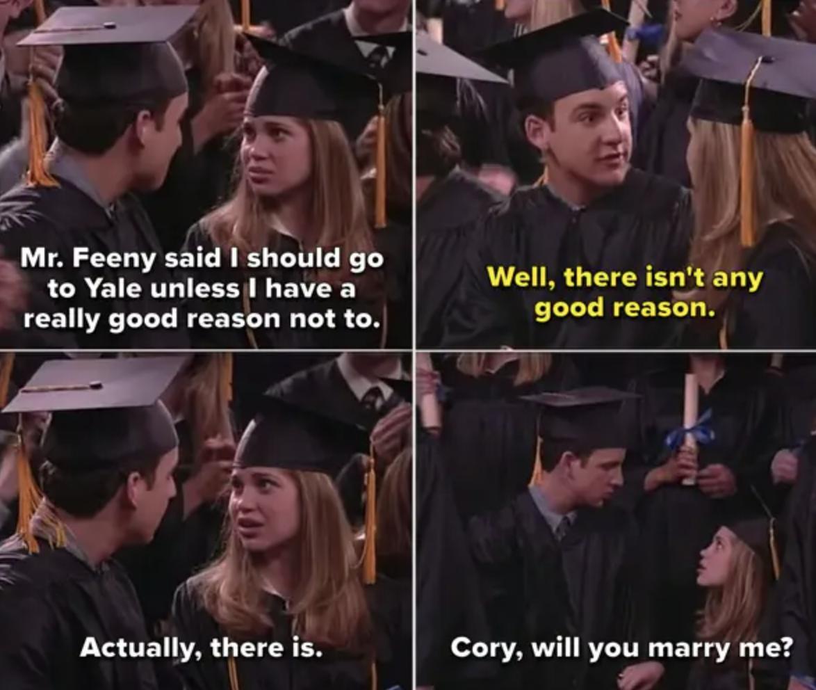 Cory and Topanga graduating from high school