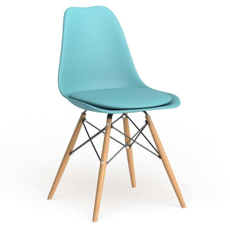 The chair in teal