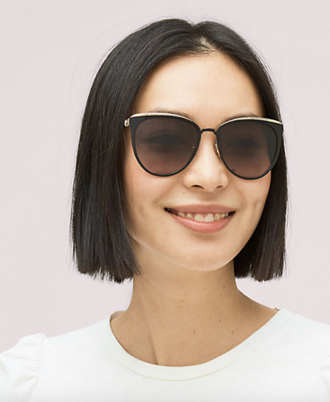 Model wearing the sunglasses