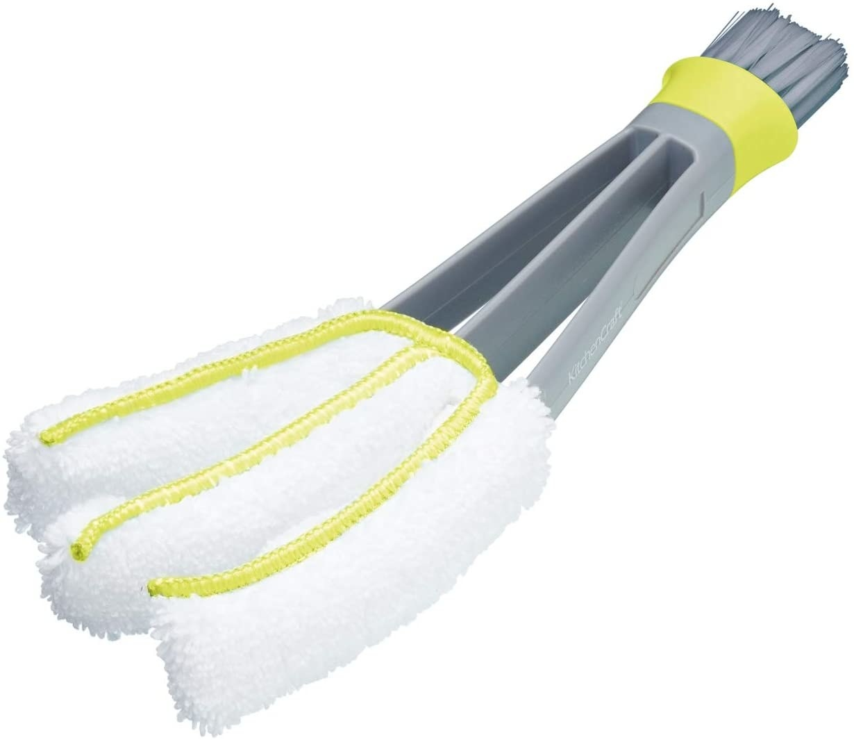 Cleaning brush with multiple microfibre-covered arms