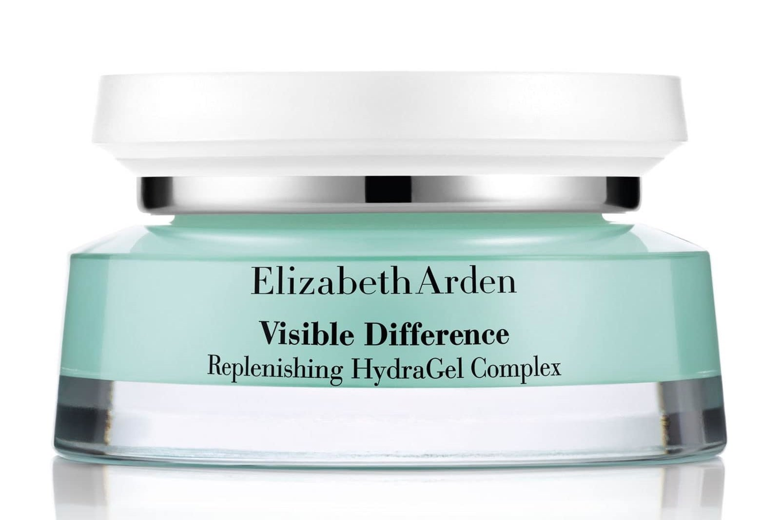 Tub of face cream on white background
