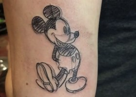 A sketch of Mickey Mouse