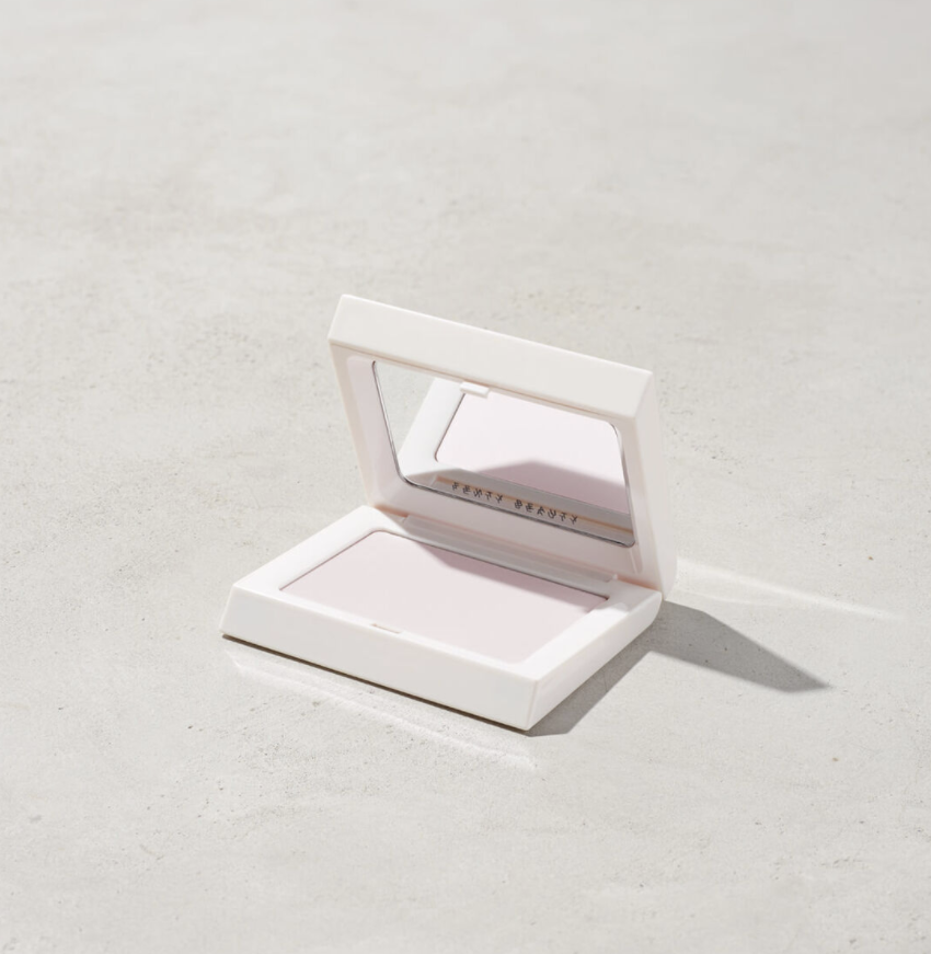 The blotting powder against a plain background