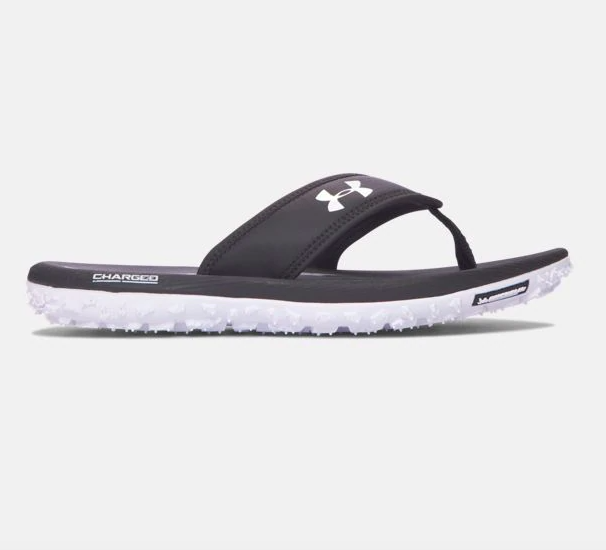 Under Armour sandals in gray and black colorway