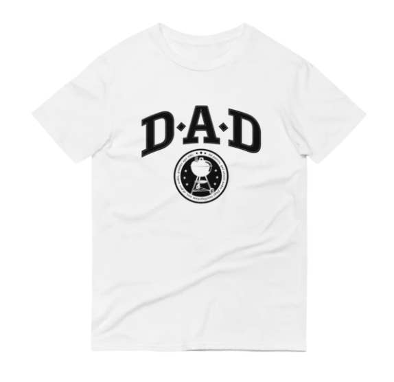 T-shirt with DAD in large, bold font