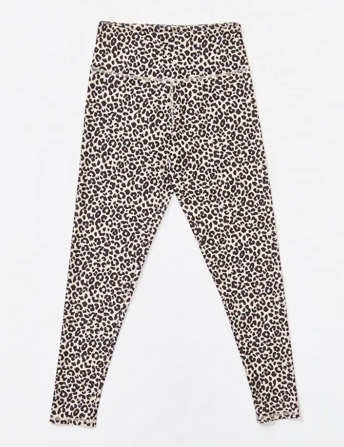 a pair of leggings with an all-over leopard print