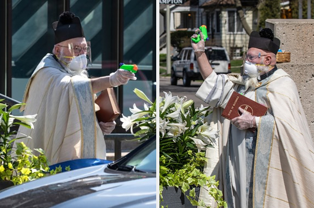 Detroit Priest Uses Squirt Gun With Holy Water To Bless