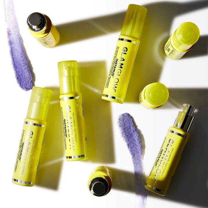 yellow face mask bottles