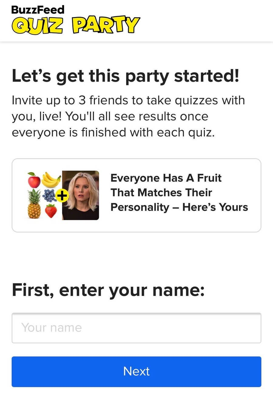 """Quiz Party"""" Let's You Take Quizzes With Your Friends In Real Time"""