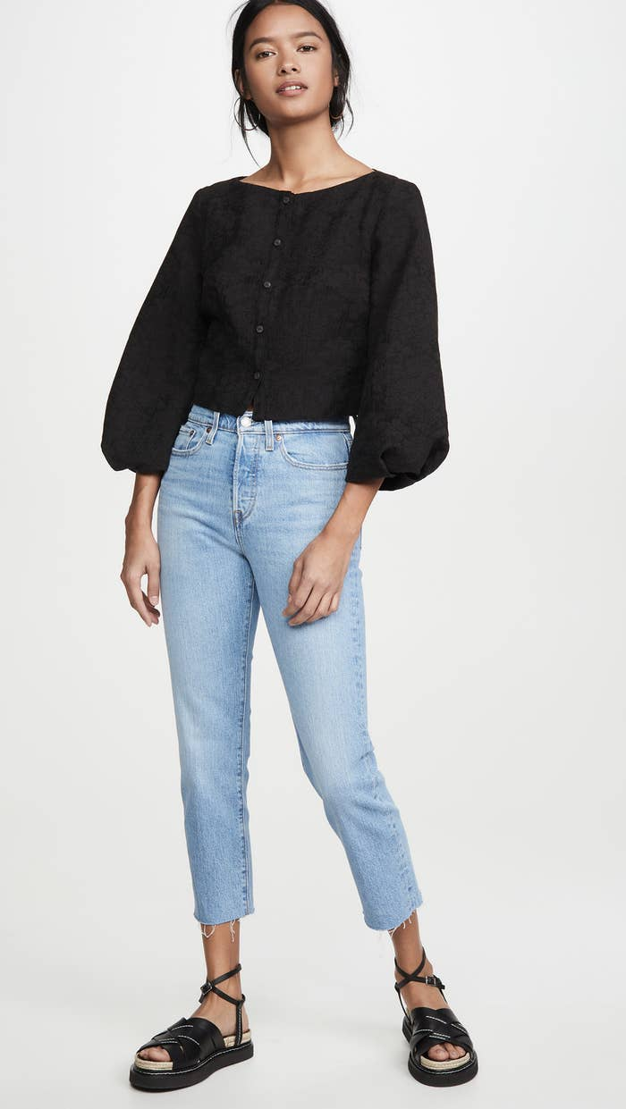 Levi's wedgie straight jeans in a light wash