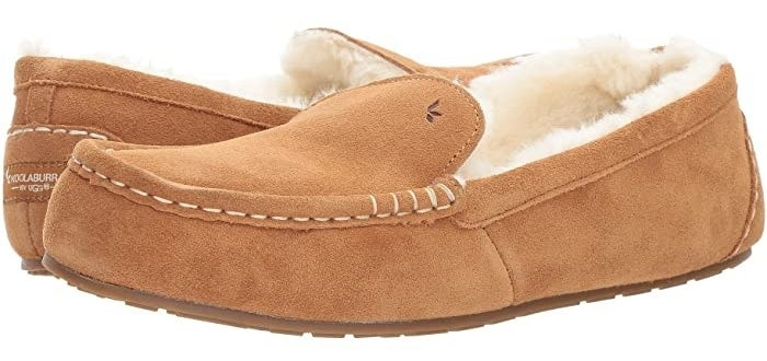 Koolaburra by Ugg Lezly slip-on slipper with a soft suede upper and stitch detailing around the toe