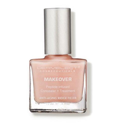 A nail polish bottle of Dermelect Makeover Ridge Filler