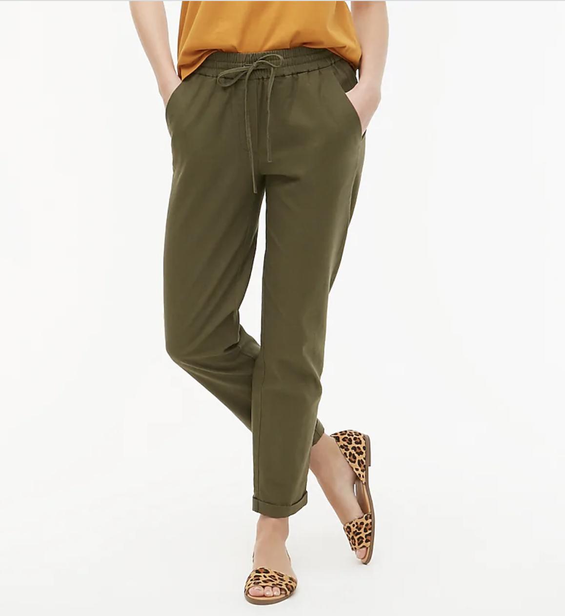 A model wears the pants