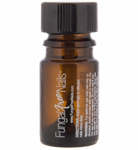 A bottle of Fungal Free Nails with a screw-on cap